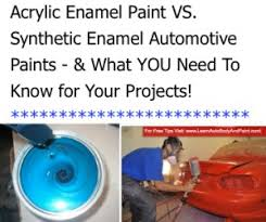 new acrylic enamel auto paint vs synthetic enamel paint for cars