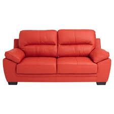 comparateur canapé canapé fixe 3 places en cuir 2 coloris conforama