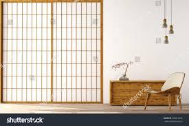 home design in japan interior design modern living room wood stock illustration