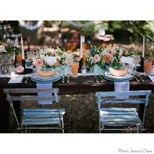 Blue Bistro Chairs Cosette Blue Bistro Chairs Found Vintage Rentals