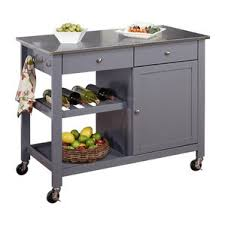 stainless steel top kitchen island modern kitchen islands carts allmodern