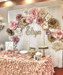 photo backdrop paper gold sweet 16 decorations paper flower backdrop delectable