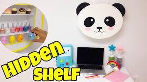 hidden shelf kawaii crafts easy diy room decor ideas youtube