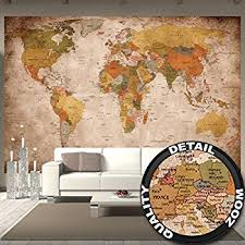 world map wallpaper mural amazon co uk diy u0026 tools
