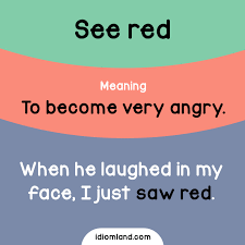 Cold Comfort Idiom Meaning Idiom Of The Day See Red Meaning To Become Very Angry Example
