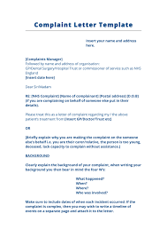 Complaints Letter To Hospital complaint letter template uk in word and pdf formats