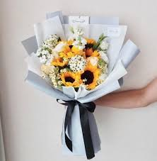 sunflower bouquet shine like sunflower bouquet giftr malaysia s leading online