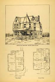 Victorian Mansion Floor Plans Old Victorian House Plans by 1878 Print Victorian Suburban House Architectural Design Floor