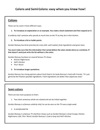 how to use semi colons by pip142 teaching resources tes