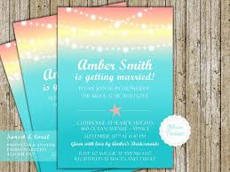 Beach Theme Wedding Invitations Beach Theme Wedding Shower Invitation Starfish Sunset Coral And