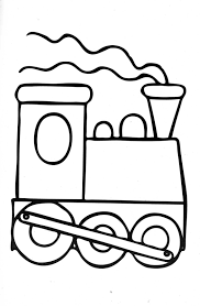 train kids coloring page free download