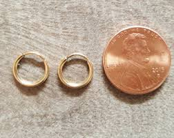small gold hoop earrings tiny hoop etsy