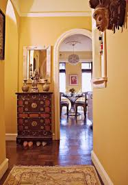 Gold Entry Table Dishy Gold Entry Table Entry Eclectic With Ceiling Lighting