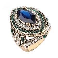 big vintage rings images Luxury big turkish ring vintage wedding rings for women gold color jpg