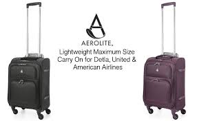 united carry on rules amazon com aerolite 22x14x9 carry on max lightweight upright