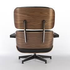 walnut u0026 black herman miller original eames lounge chair u0026 ottoman