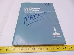 okuma osp7000m osp700m cnc systems operation manual book ebay