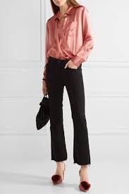 t by alexander wang wrap effect silk charmeuse bodysuit net a