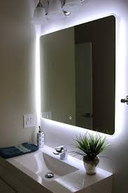 Lighted Mirror Bathroom Led Lighted Mirrors Bathrooms Amazoncom Windbay Backlit Led Light