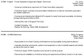 Military Resume Example by Ex Military Resume Examples Reentrycorps