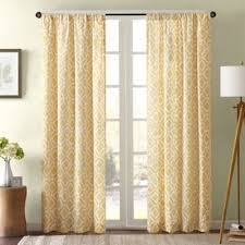 Yellow Patterned Curtains Bed Bath Beyond Delray 42 Inch X 84 Inch Window Curtain