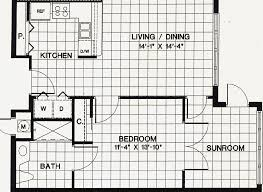 one bedroom apartments floor plans fascinating 4 typical 1 br