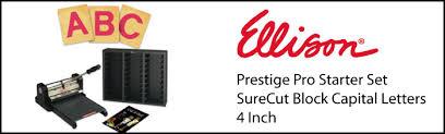 prestige pro starter set w surecut block capital letters 4 inch