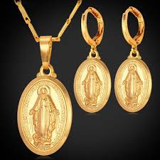 real gold earrings christian platinum 18k real gold plated necklace