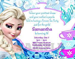 frozen tea party invitations etsy