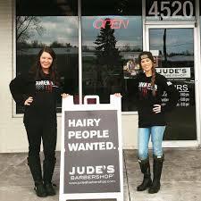 w main girls showin off the jude u0027s barbershop office photo