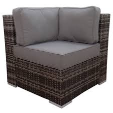 Gray Wicker Patio Furniture - grey weston corner end chair at home at home