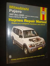 mitsubishi pajero automotive repair manual haynes automotive