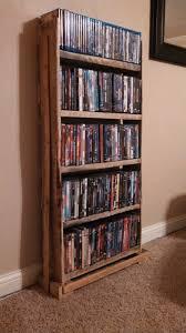 Dvd Storage Cabinets Wood by Pallet Wood Dvd Rack Pallet Crafts Pinterest Dvd Rack