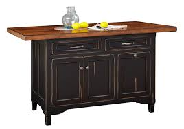 amish roseburg island with two drawers and two doors brown maple kitchen island with rough sawn top