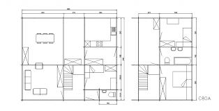 superficie chambre chalet 3 chambres d une superficie de 80 45m2 decochalet