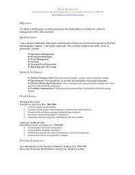 skills and experience keyword sample resume for restaurant experience resumes