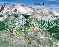 Colorado Mountains Map by Breckenridge Ski Resort Skimap Org