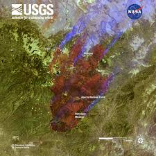 Wyoming Wildfires Map Arizona Wildfire Sweeps Through Apache National Forest Landsat