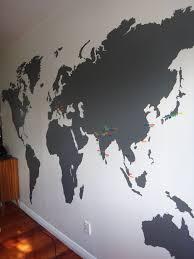 Best World Map Wall Ideas On Pinterest Bedroom Wallpaper - Design a wall sticker