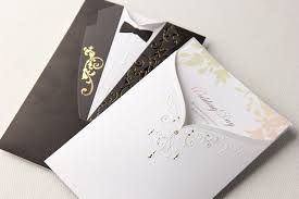 groom and groom wedding card black and white pocket wedding invitation cards and groom