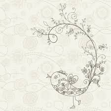 bird made with ornaments background vector free