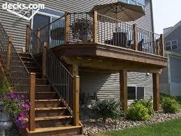 Best Backyard Decks And Patios Best 25 Second Story Deck Ideas On Pinterest Walkout Basement