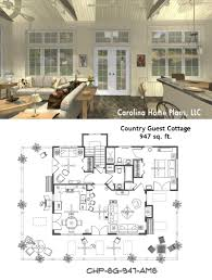 Cottge House Plan by Small Open Floor Plan Sg 947 Ams Great For Guest Cottage Or