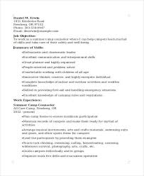 Sample Resume For Camp Counselor 9 Camp Counselor Resume Free Sample Example Format Download
