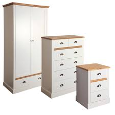 hemsworth cream u0026 oak effect 3 piece bedroom furniture set