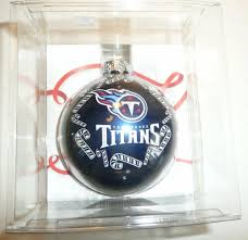 details about tennessee titans holiday glass ornament