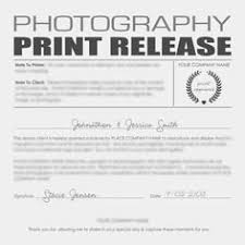 photo print release form template template idea