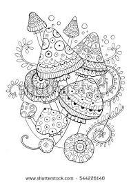 mushroom coloring book stock images royalty free images u0026 vectors