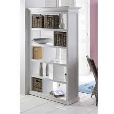White Distressed Bookcase by Open Bookshelf Room Divider In Distressed White Finish Halifax