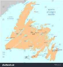 Newfoundland Map Newfoundland Map Canada Stock Vector 148931708 Shutterstock